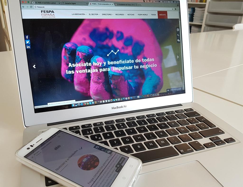 Nueva página web FESPA España