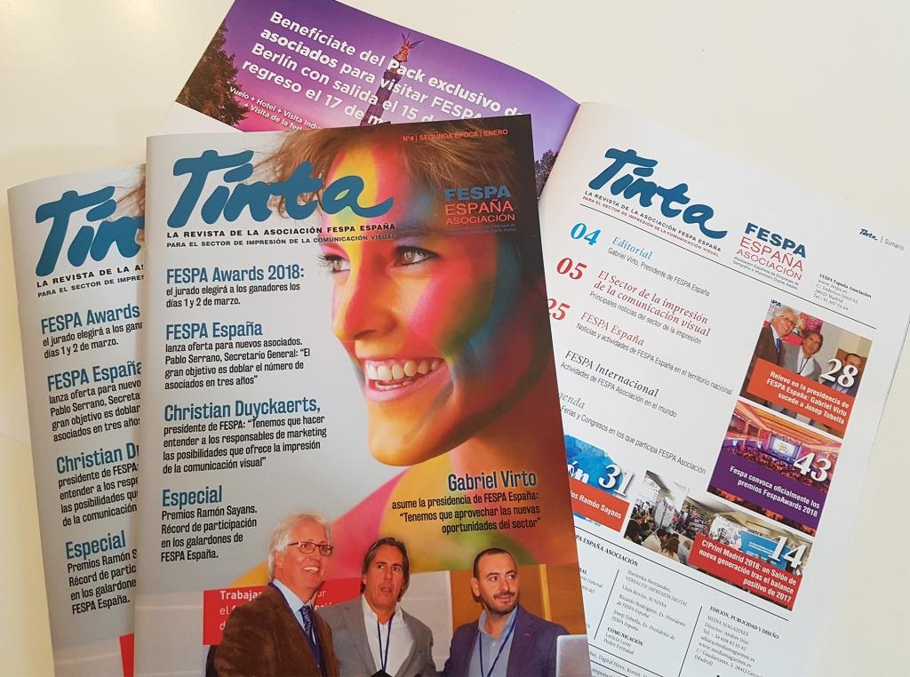 Tinta, la revista de FESPA España.