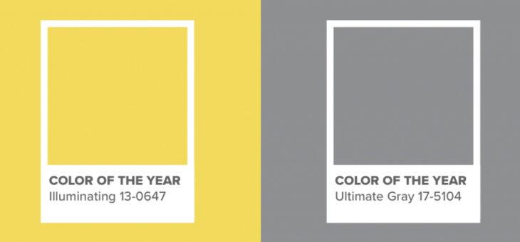 Una combinación de amarillo y gris: los colores del año 2021 para Pantone